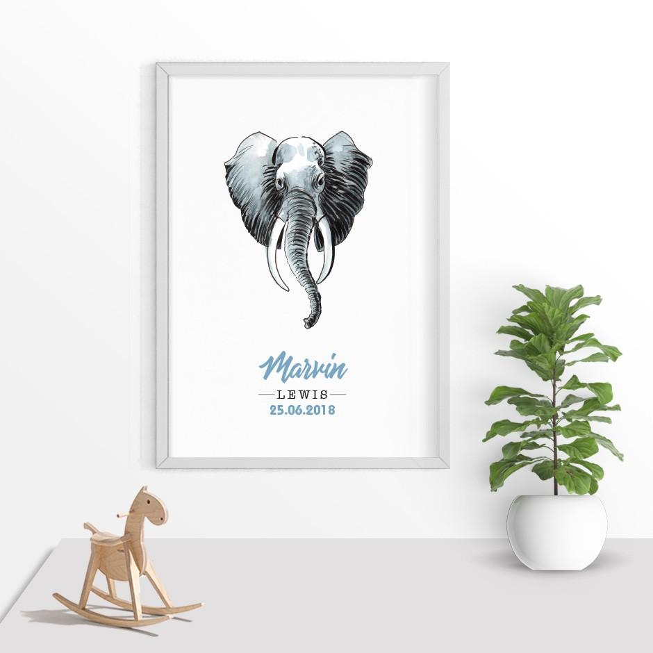 Taufkerze Elefant