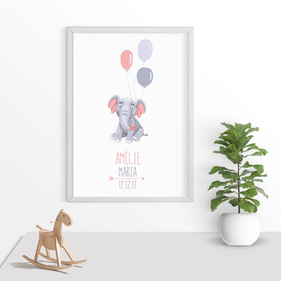 Taufkerze Elefanten Baby