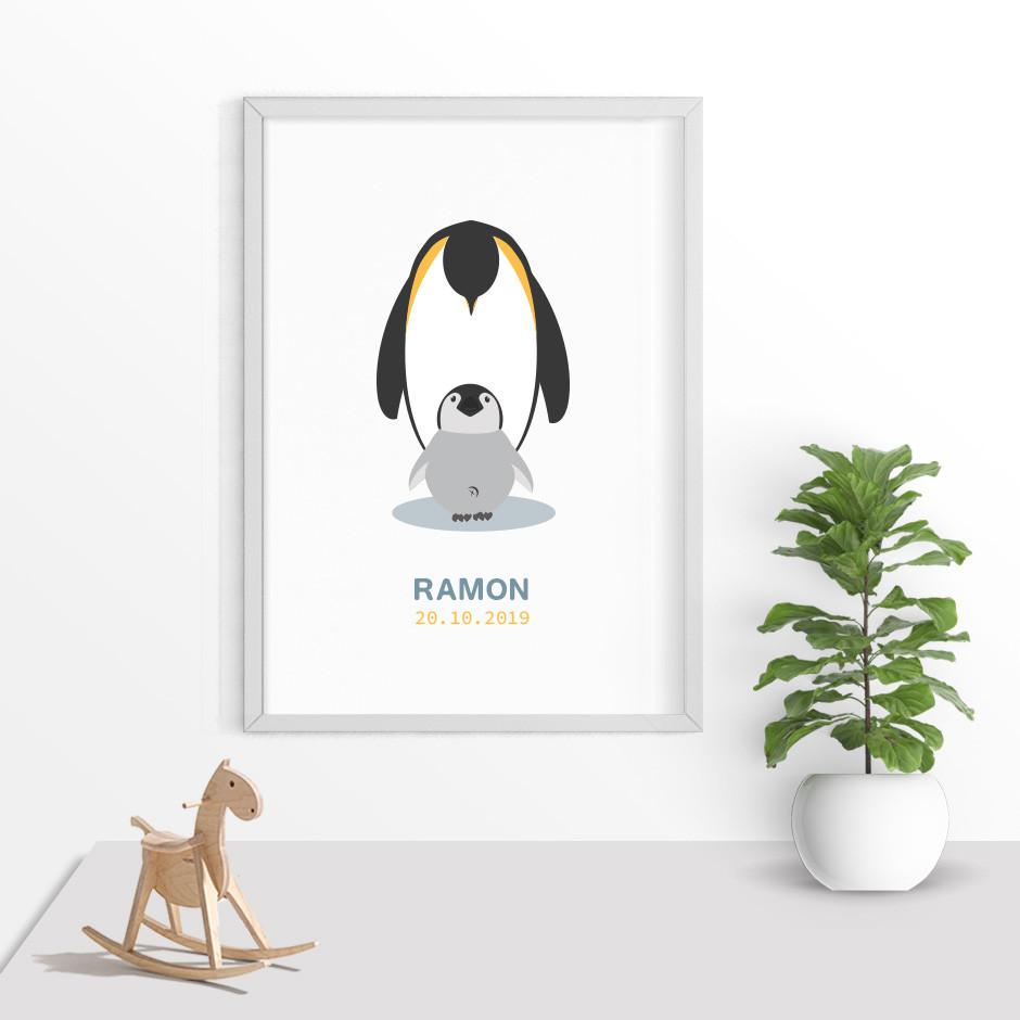 Taufkerze Pinguin