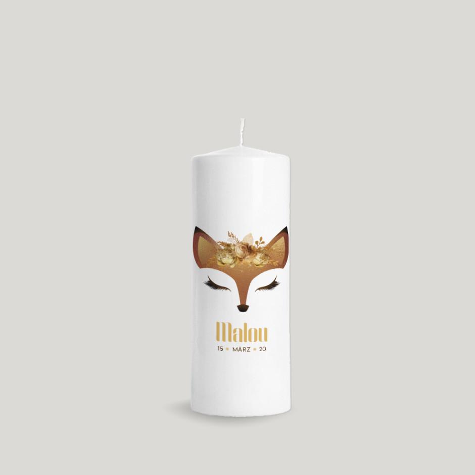 Taufkerze Animal Face Fuchs