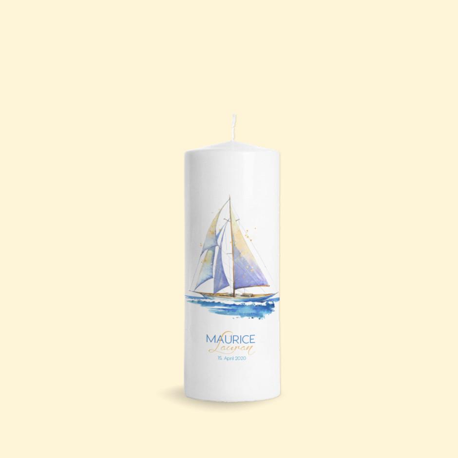 Taufkerze Segelschiff