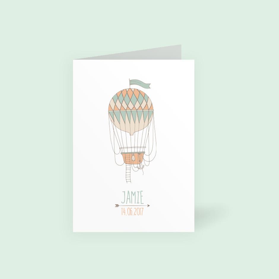 Klappkarte Luftballon grün